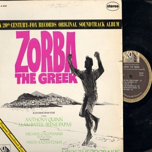 Theodorakis, Mikis - Zorba The Greek - Original Sound Track from film starring Anthony Quinn (Vinyl STEREO LP record) - EX8/EX8 - LP Records