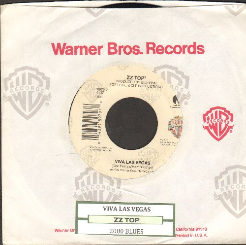 ZZ Top - Viva Las Vegas/2000 Blues (with juke box label and Warner Brothers company sleeve) - EX8/ - 45 rpm Records