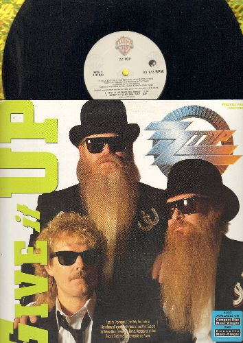 ZZ Top - Give It Up (4 Different Versions + Concrete And Steel Album Version) - 12 inch Maxi Single with picture cover) (DJ advance pressing) - NM9/NM9 - LP Records