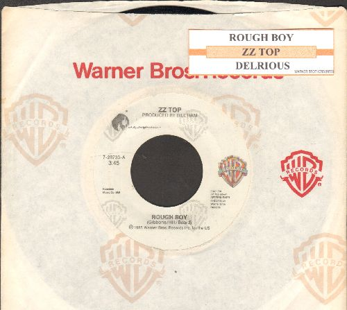 ZZ Top - Rough Boy/Delirious (with Warner Brothers company sleeve) - EX8/ - 45 rpm Records