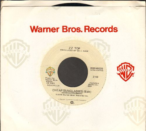 ZZ Top - Cheap Sunglasses/Esther Be The One (with Warner Brothers company sleeve) - NM9/ - 45 rpm Records