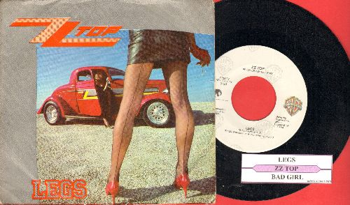 ZZ Top - Legs/Bad Girl (with juke box label and picture sleeve) - NM9/EX8 - 45 rpm Records