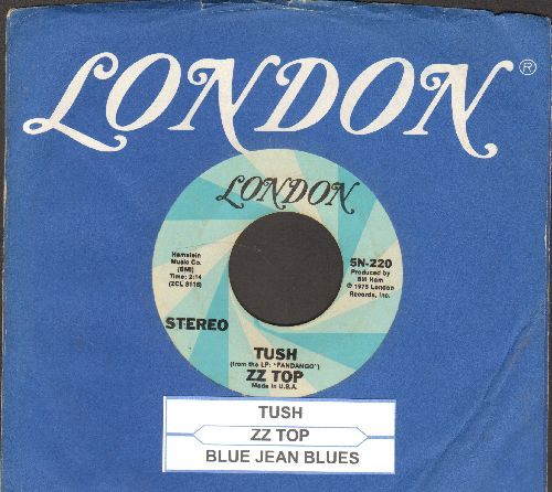 ZZ Top - Tush/Blue Jeans Blues (with juke box label and London company sleeve) - EX8/ - 45 rpm Records