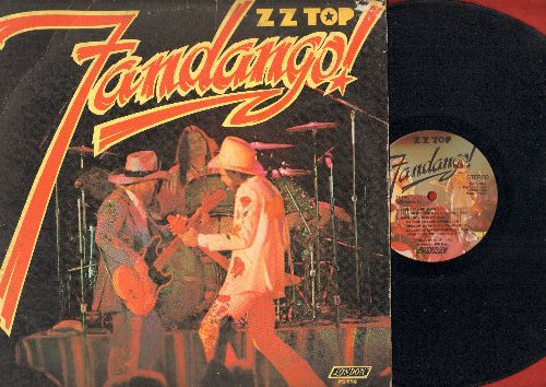 ZZ Top - Fandango!: Thunderbird, Jailhouse Rock,Tush, Blue Jean Blues (Vinyl STEREO LP record) - EX8/VG6 - LP Records
