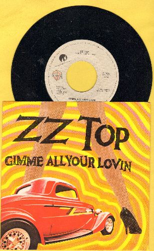 ZZ Top - Gimme All Your Lovin/If I Could Only Flag Her Down (with picture sleeve) - NM9/NM9 - 45 rpm Records
