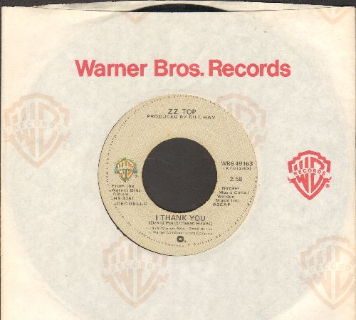 ZZ Top - I Thank You//A Fool For Your Stockings (whthe Warner Brothers company sleeve) - VG7/ - 45 rpm Records